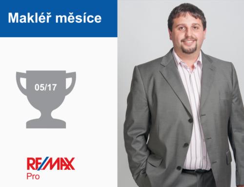 Ing. Petr Vaněk – makléř měsíce května 2017